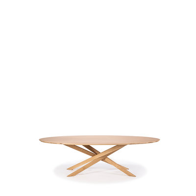 Ethnicraft Oval Mikado dining table oak