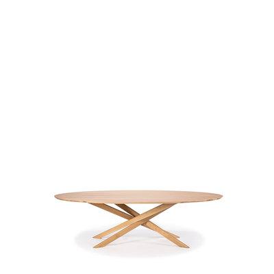 Ethnicraft Mikado oval coffee table oak