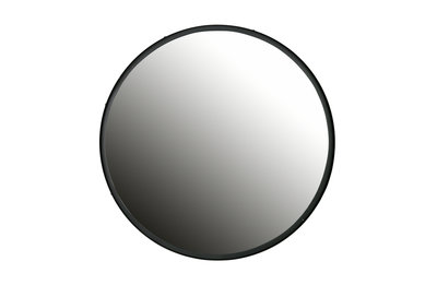 Woood Lauren spiegel metaal xl zwart ø56cm