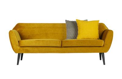 Woood Rocco sofa 187 cm fluweel oker