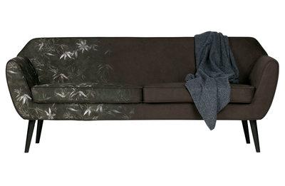 Woood Rocco sofa 187 cm fluweel bamboo print