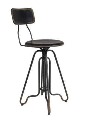 Ovid counter stool black