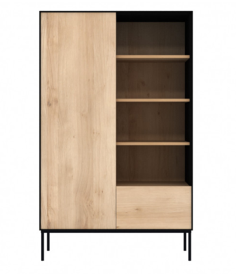 Ethnicraft Blackbird storage cupboard oak black