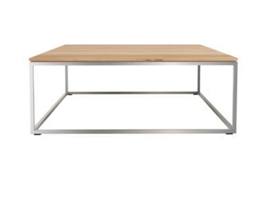 Ethnicraft Thin coffee table oak 80x80
