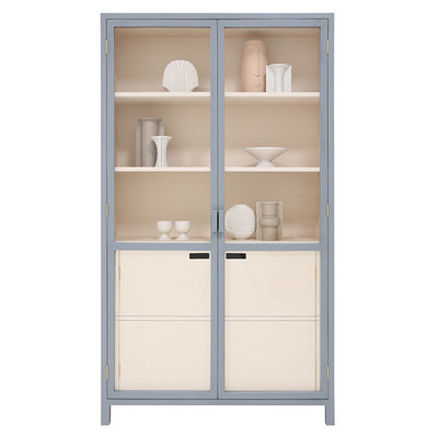 HK Living display cabinet grey/nude