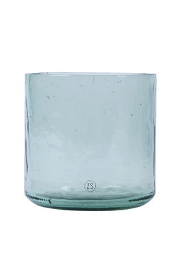 Zusss vaas gerecycled glas transparant