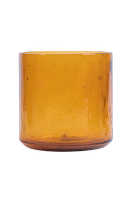 Zusss vaas gerecycled glas amber