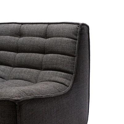 Ethnicraft N701 sofa - 1 seater - Dark grey