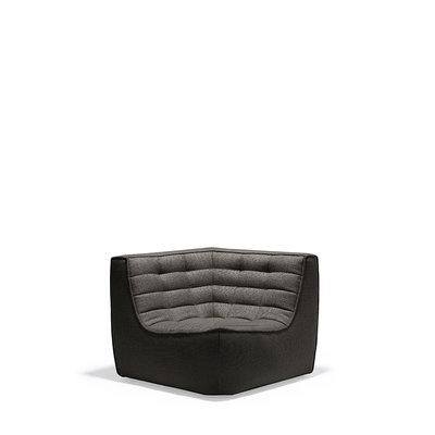 Ethnicraft N701 sofa - corner - Dark grey