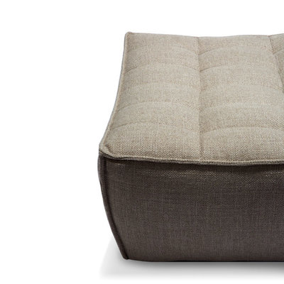 Ethnicraft N701 sofa - footstool- Beige
