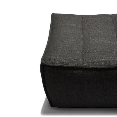Ethnicraft N701 sofa - footstool- Dark grey