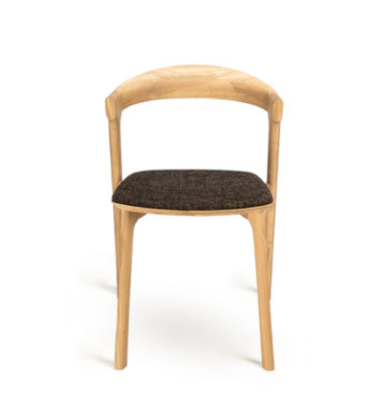 Ethnicraft Bok naturel dining chair dark brown