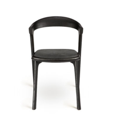 Ethnicraft Bok dining chair black leather