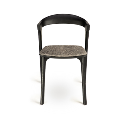 Ethnicraft Bok black dining chair grey