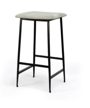 Ethnicraft DC counter stool low light grey without backrest