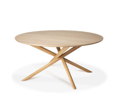 Ethnicraft Mikado round dining table oak