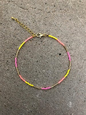 Jewelz By Joya enkelbandje neon gold