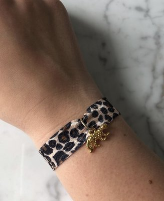 Jewelz By Joya  panter elastiek armbandje