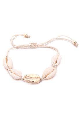 Joyjewelleryy waxkoord armbandje met schelpen