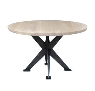 maatwerk vermeer meubelen rond tafel owen eiken