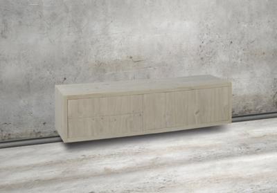 puur zwenvend tv meubel eiken maatwerk vermeer