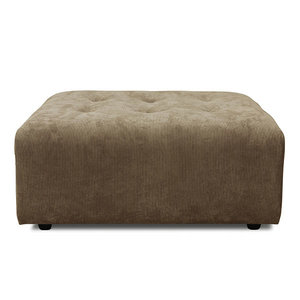 HKliving vint couch element hocker corduroy rib brown