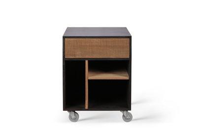 Ethnicraft Teak Oscar drawer unit op wielen