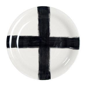 HKLiving keramieken serveerbord met kruis