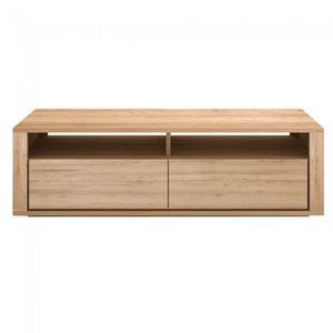 Ethnicraft oak Shadow TV-cupboard 2 drawers