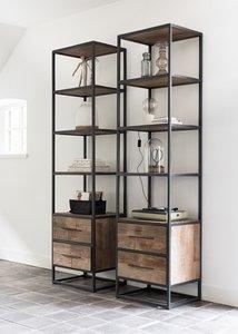 D-Bodhi Urban boekenkast hoog smal - Natuurlijk Wonen
