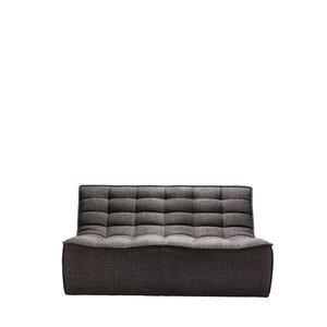 Ethnicraft N701 sofa - 2 seater - Dark grey