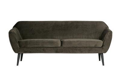 Woood Rocco sofa 187 cm fluweel warm green