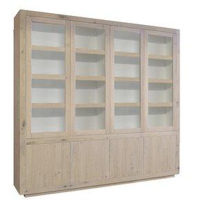 helder glaskast acht deuren maatwerk kast vermeer meubelen
